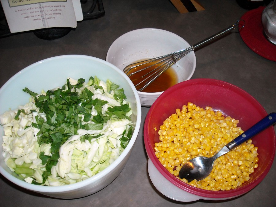 cucumber and cabbage salad ingredients
