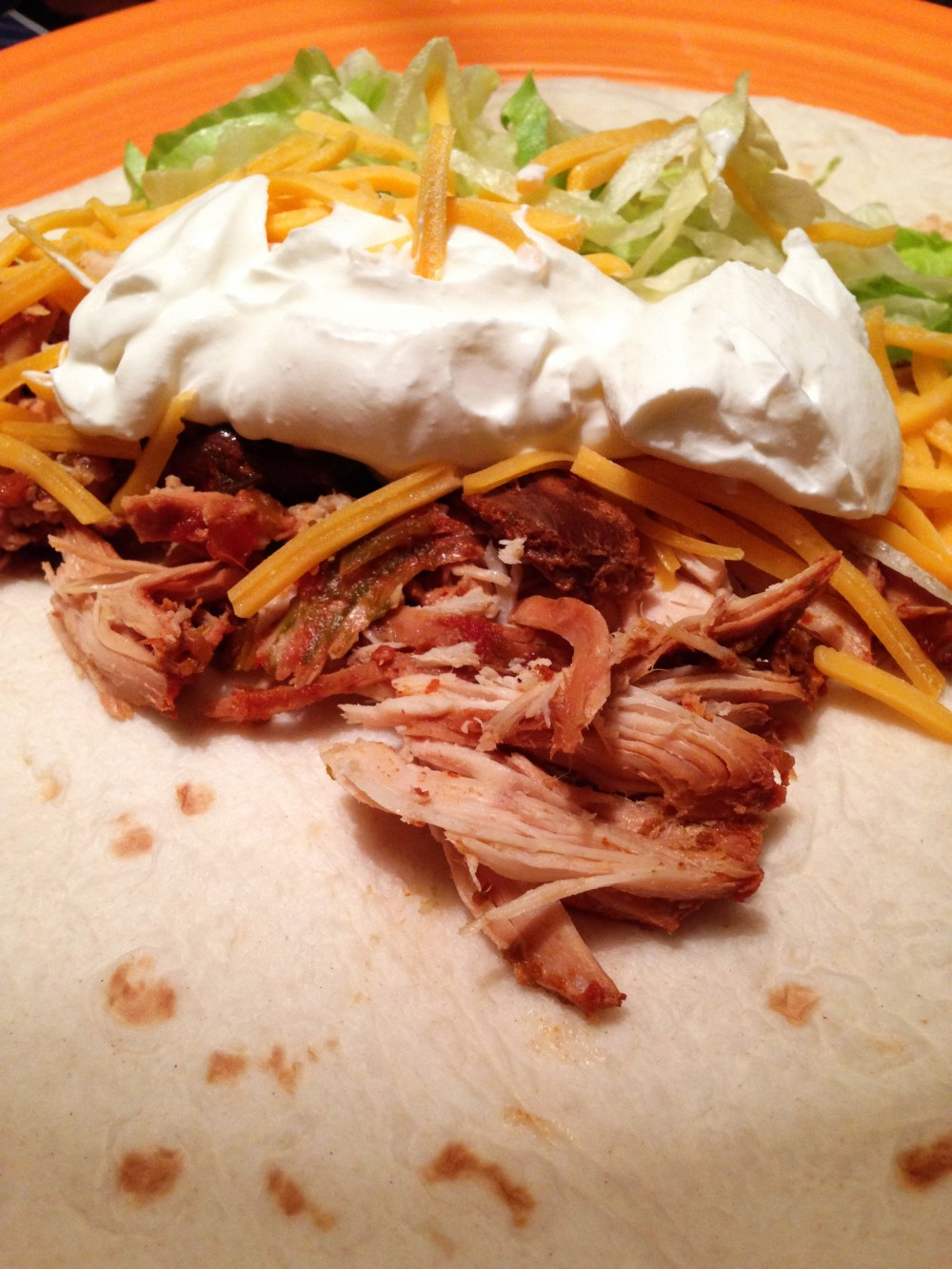 Shredded Chicken Taco