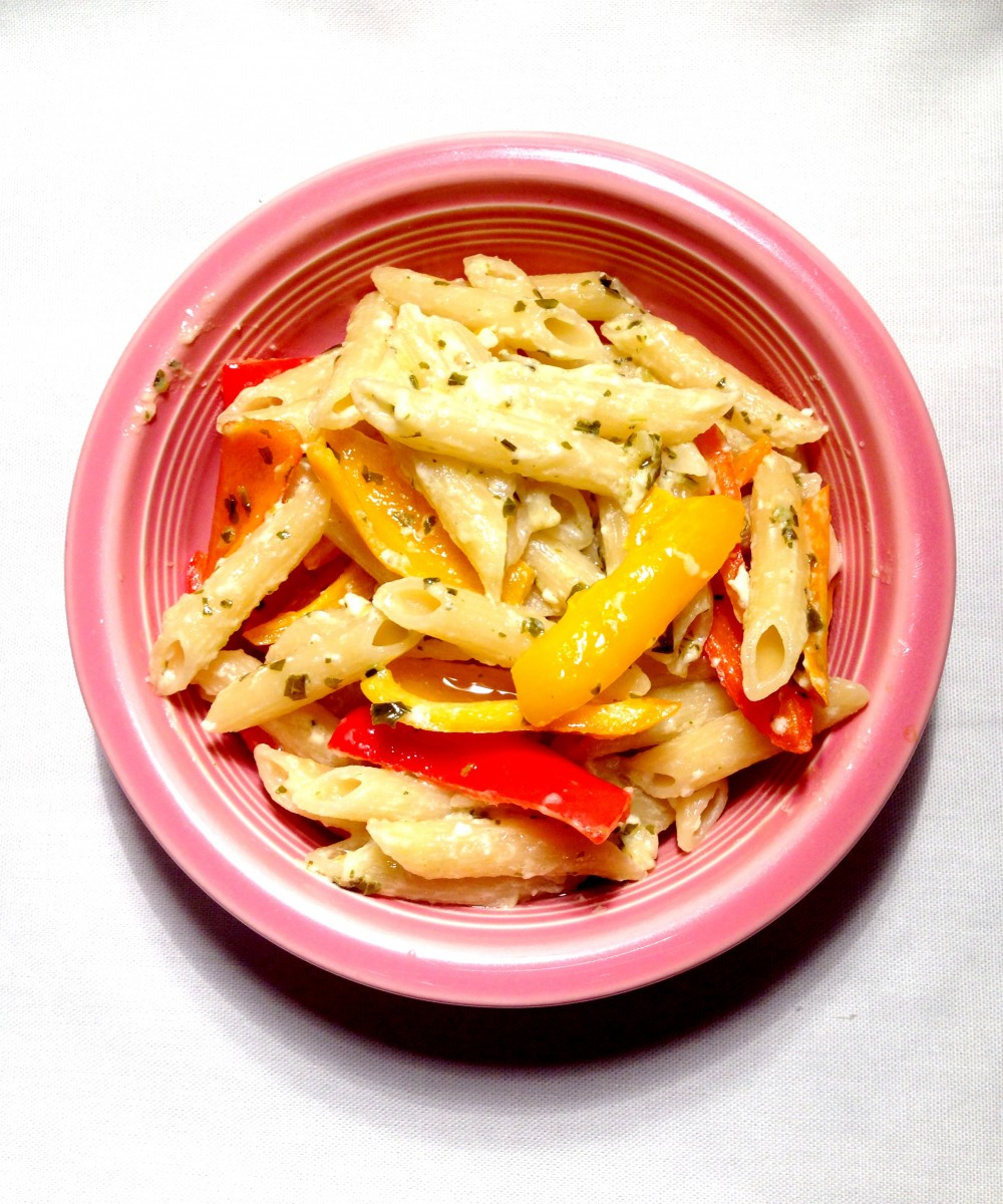 Penne with sweet mini peppers