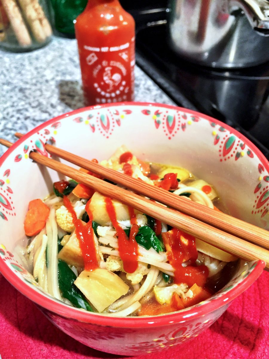 Lo Mein and Roasted Veggies